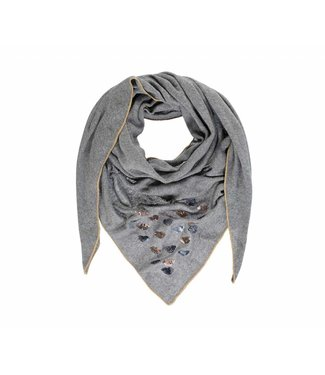 Passigatti Shawl Embroidery Light Grey