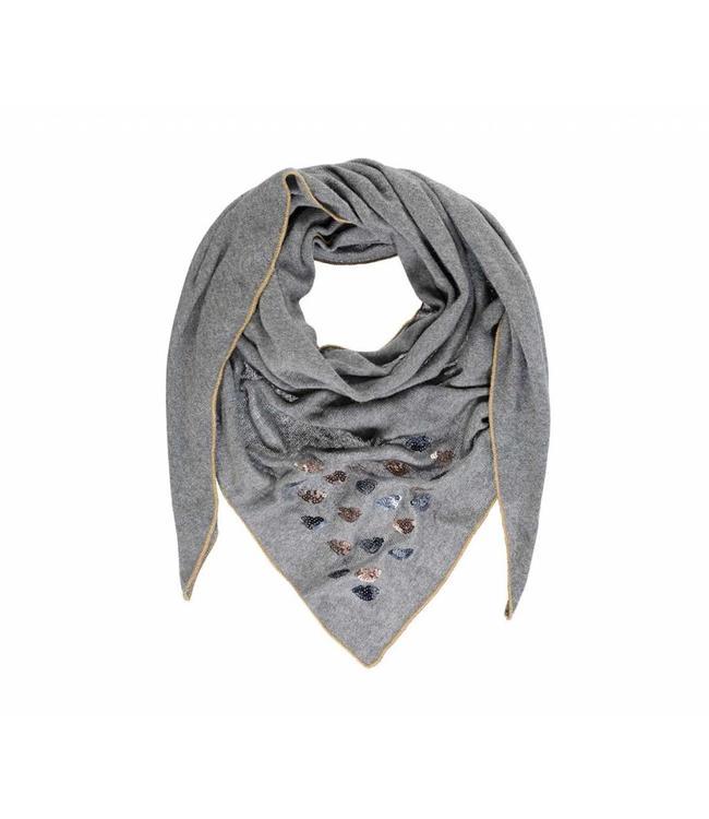 Passigatti Echarpe Embroidery Light Grey