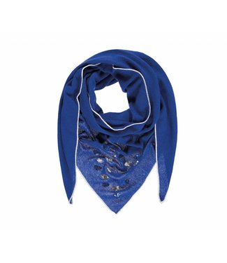 Passigatti Sjaal Embroidery blue