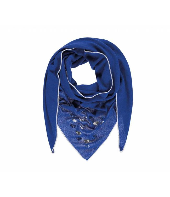 Passigatti Shawl Embroidery blue