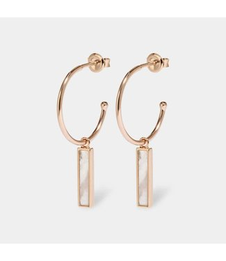 Cluse Boucles d'oreilles Idylle Rosegold Marble bar hoop