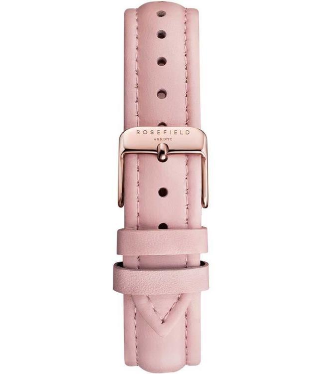 Rosefield Uurwerkbandje Stitched pink rosegold