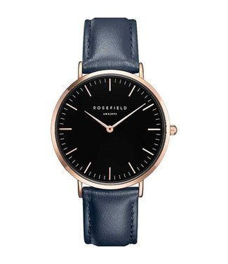 Rosefield Montre Bowery black blue rosegold