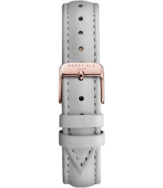 Rosefield Bracelet Montre Stitched grey rosegold