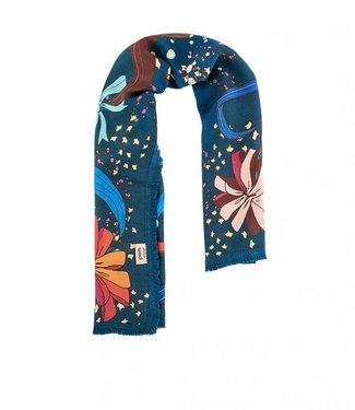 POM Amsterdam Sjaal Leopard wrap blue