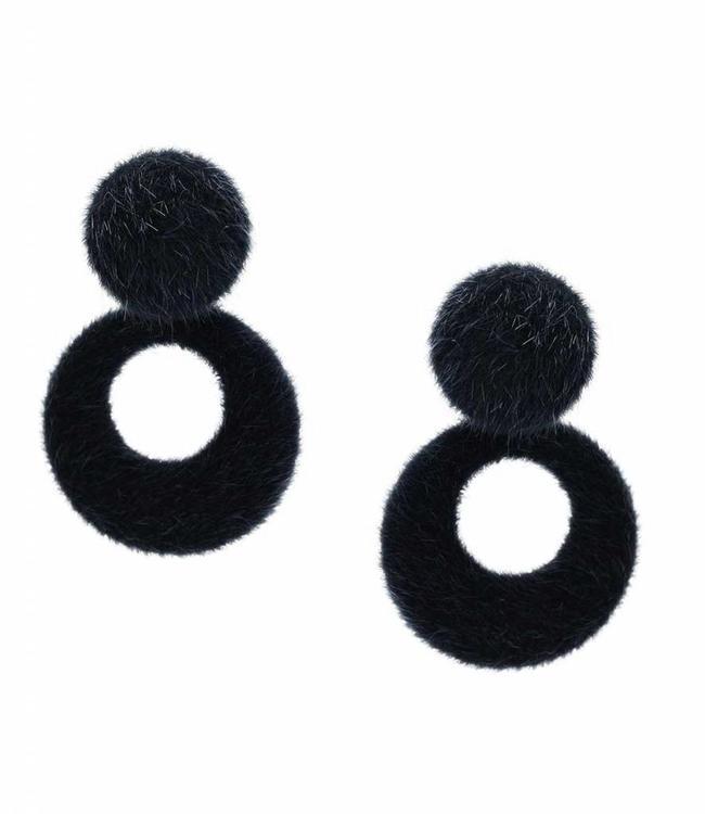 Inge Accessori Boucles d'oreilles pelliccia blue