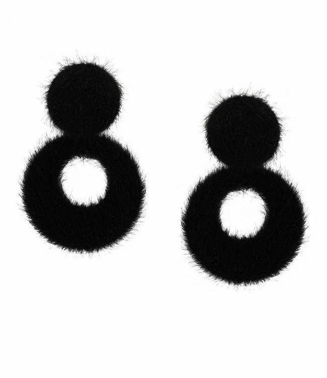 Inge Accessori Boucles d'oreilles pelliccia black