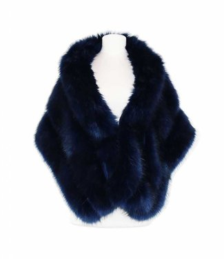 Miracles Scarf/Cape Crans-Montana Dark Blue