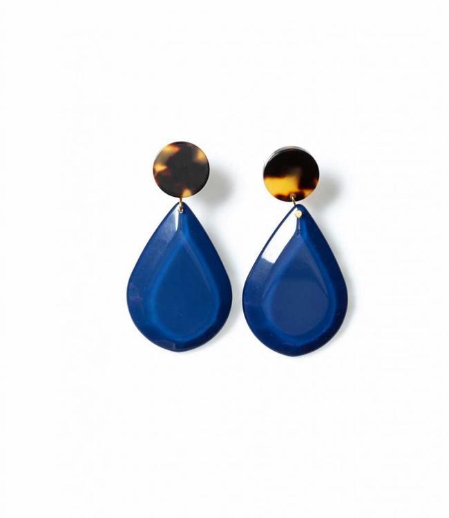 Laurence Delvallez Earring Warrior deep blue