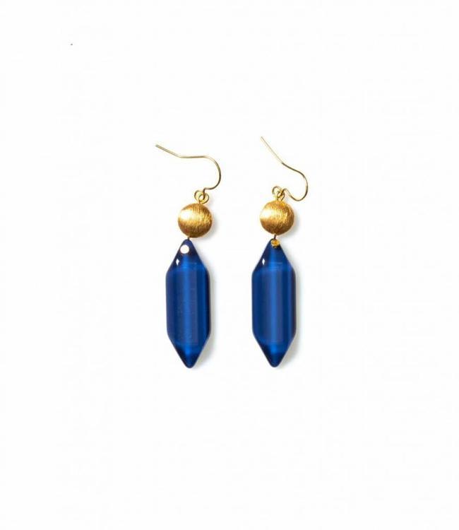 Laurence Delvallez Earring Rana deep blue