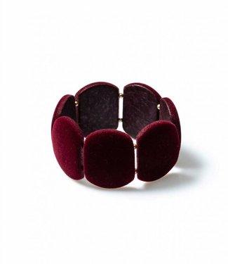 Laurence Delvallez Armband Shed Bordeaux