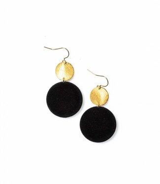 Laurence Delvallez Earring Libra Black