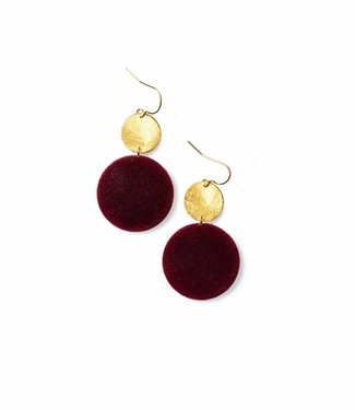 Laurence Delvallez Earring Libra Bordeaux
