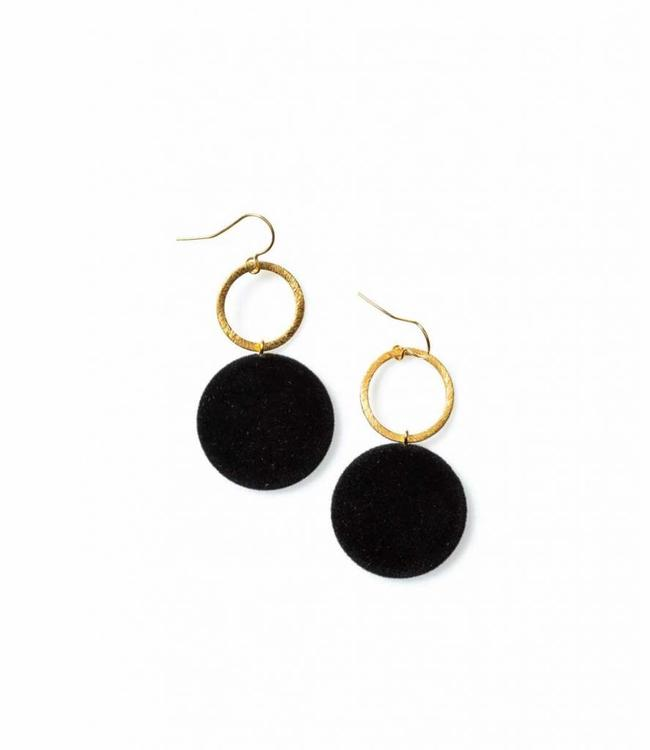 Laurence Delvallez Earring Vic Black