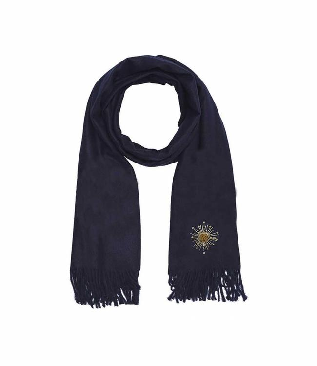 Hipanema Scarf PLEIADE Navy