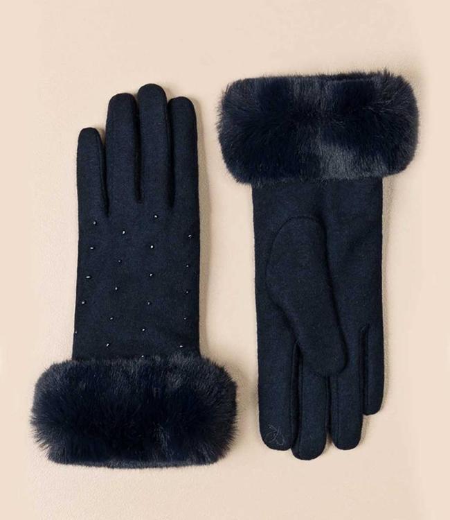 Pia Rossini Handschoenen Charlie Navy