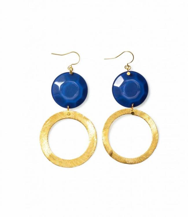 Laurence Delvallez Earring Reign Deep Blue