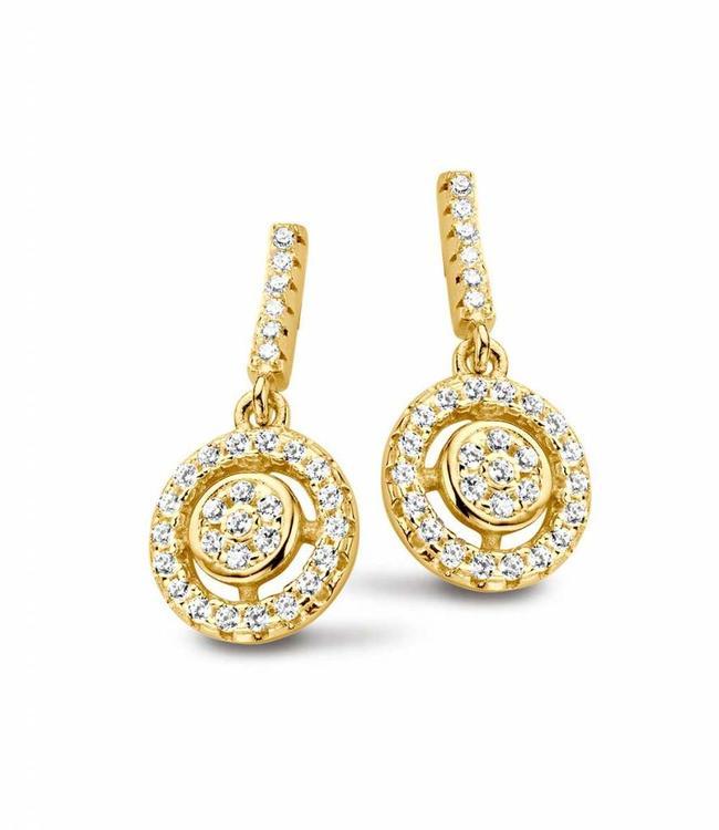 Silver Rose Earring Flavie Gold