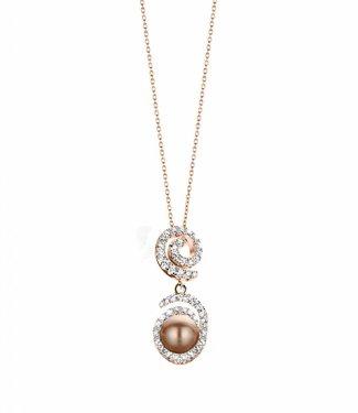 Silver Rose Necklace Opium Rose