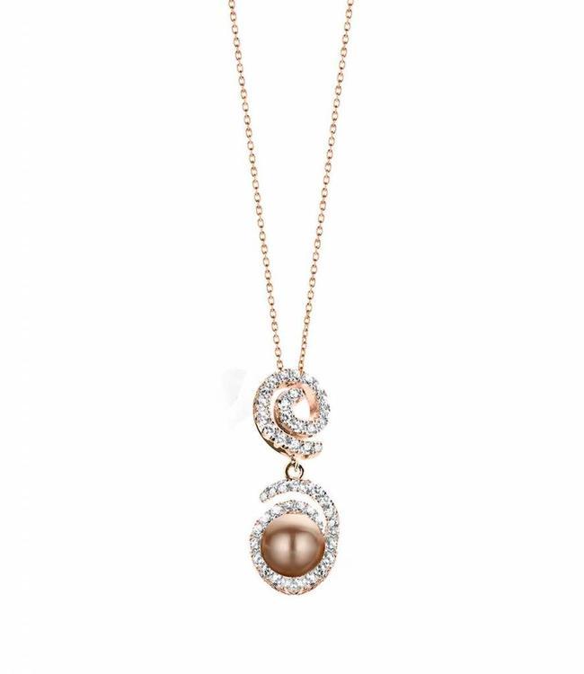 Silver Rose Halsketting Opium Rose