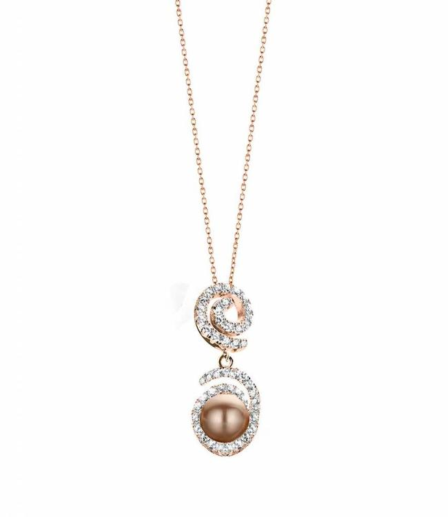 Silver Rose Necklace Opium Rose