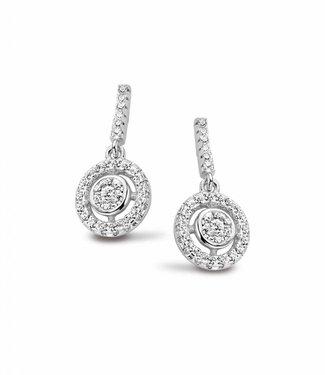 Silver Rose Boucles d'oreilles Flavie Silver