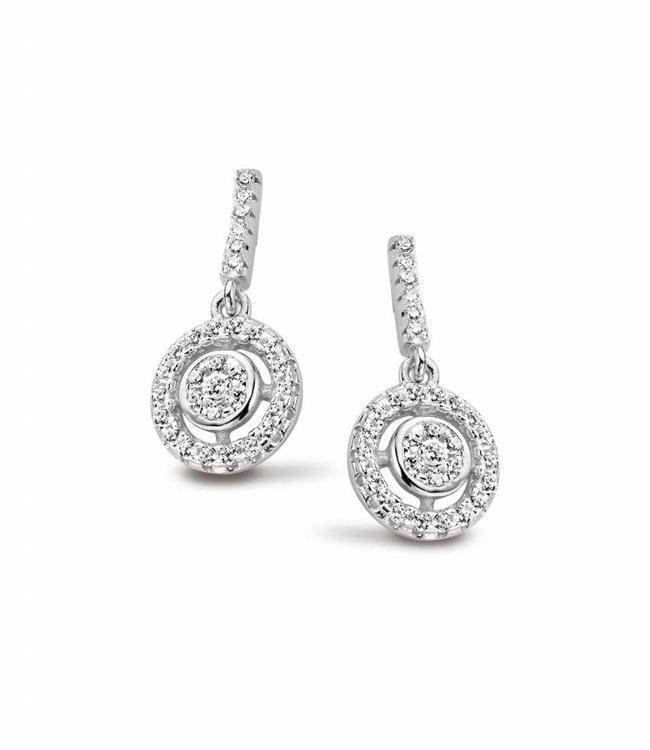 Silver Rose Oorbel Flavie Silver