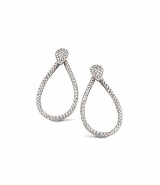 Silver Rose Boucles d'oreilles Tridrop Gold