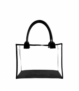 FrontRowBags Handbag Transparant open