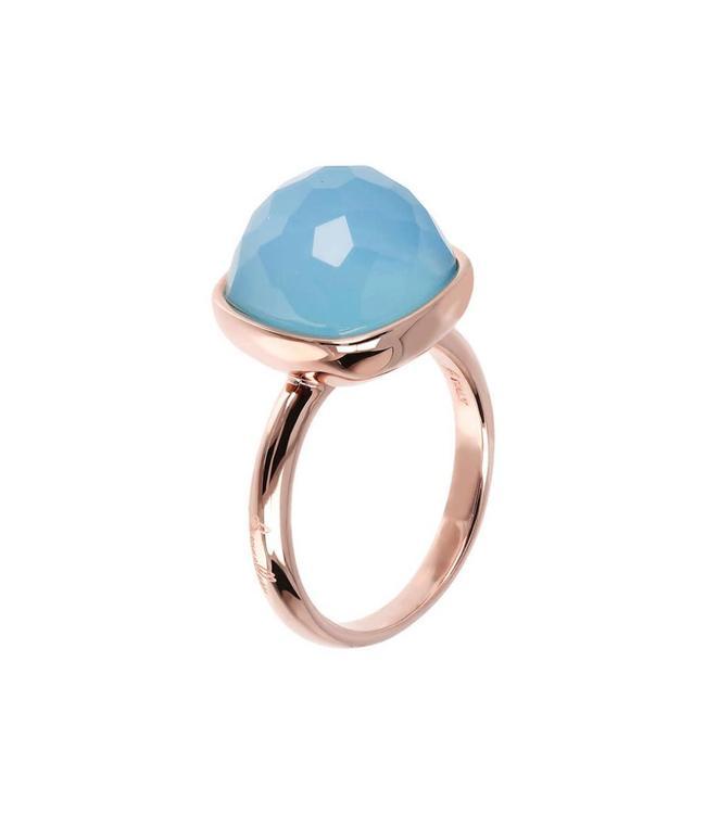Bronzallure Bague Agathe Facet Blue