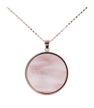 Bronzallure Collier Pearl Disc Rose