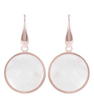 Bronzallure Boucles d'oreilles Pearl Disc