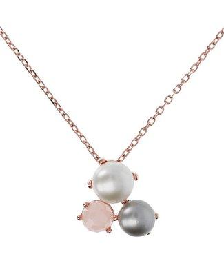 Bronzallure Collier Button Cultured pearls