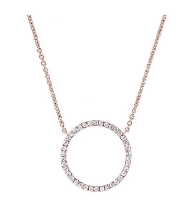 Bronzallure Necklace Crystal Circle
