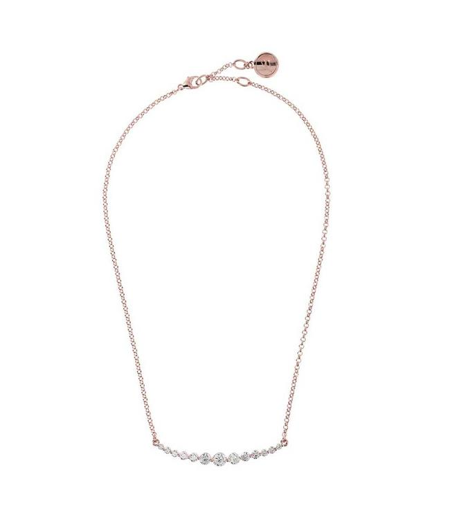 Bronzallure Collier Altissima Rose Crystals