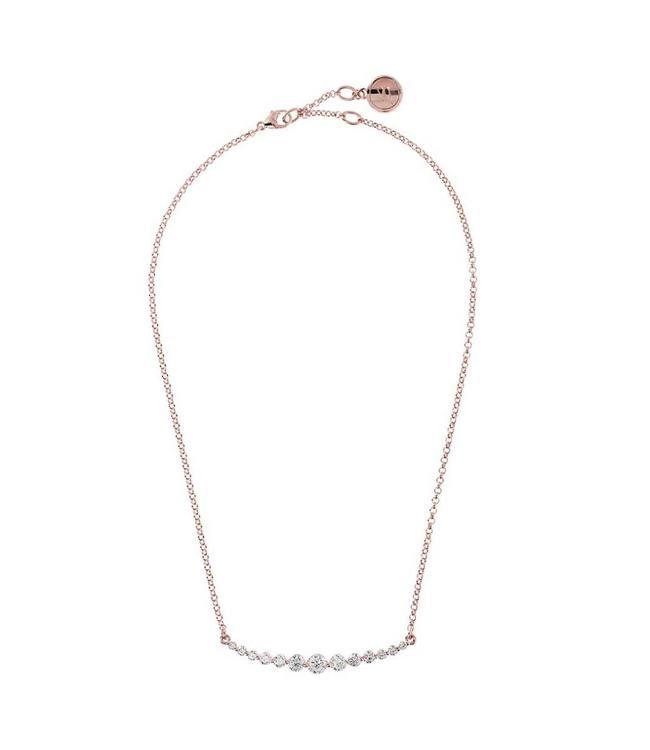 Bronzallure Necklace Altissima Rose Crystals
