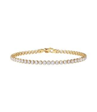 Bronzallure Armband Golden Tennis