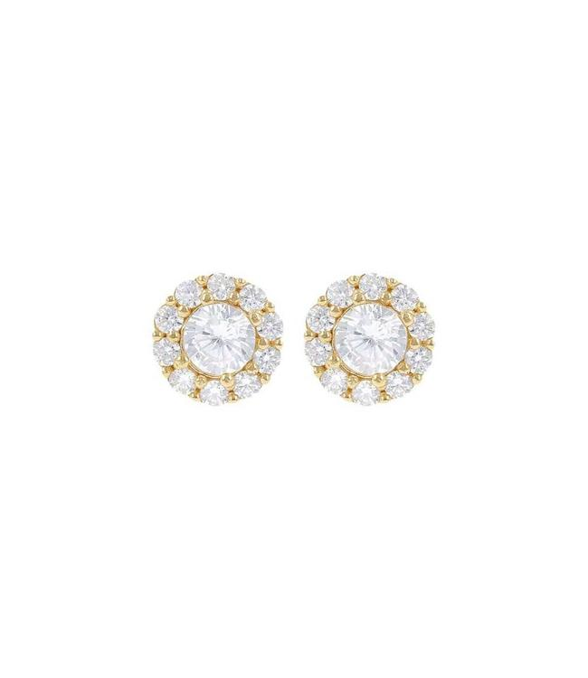 Bronzallure Boucles d'oreilles Floral Yellow gold