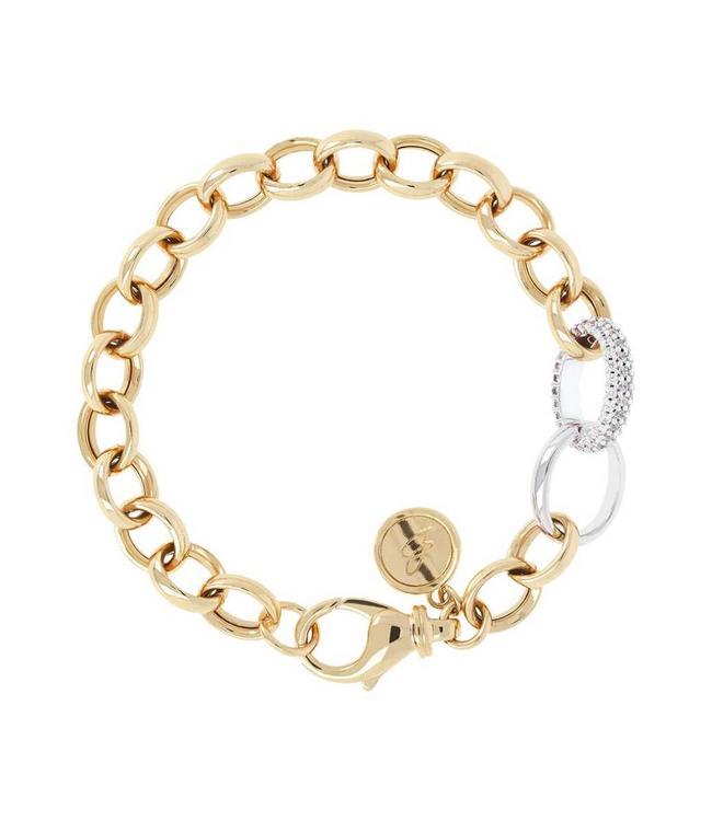 Bronzallure Bracelet Golden Oval Rolo CZ