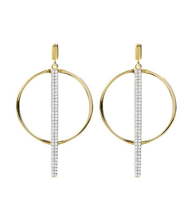Bronzallure Earring Round & Stick Gold