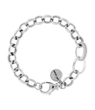 Bronzallure Armband Luna Placcato Oro Bianco 18KT