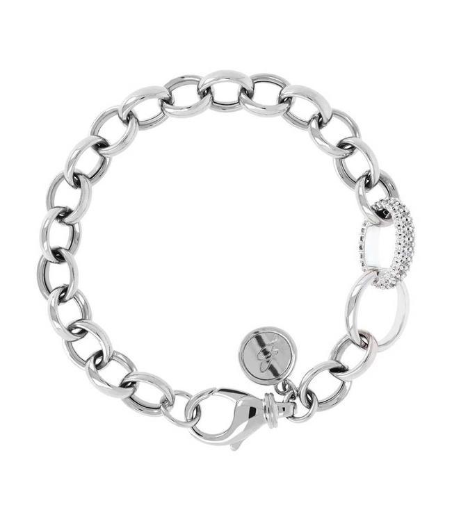 Bronzallure Bracelet Luna Placcato Oro Bianco 18KT