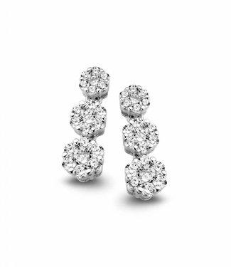 Silver Rose Earring Silver Drops