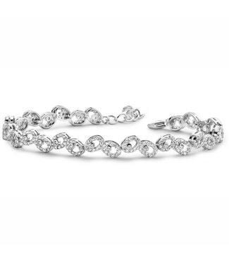 Silver Rose Bracelet Silver Drops