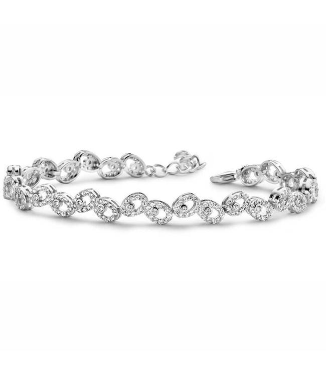 Silver Rose Armband Silver Drops