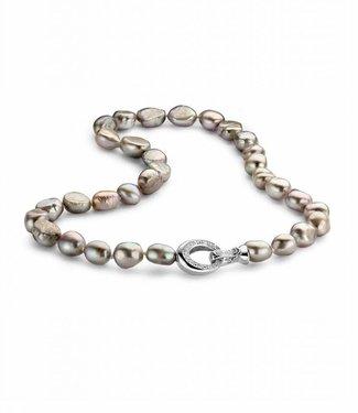 Silver Rose Necklace Hippocampe