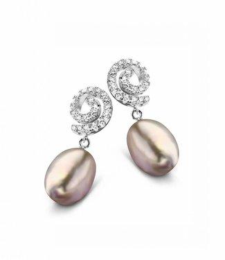 Silver Rose Boucles d'oreilles Hippocampe