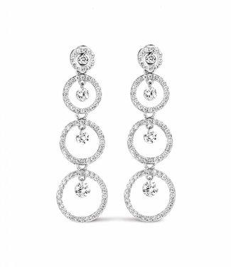 Silver Rose Boucles d'oreilles Cascade