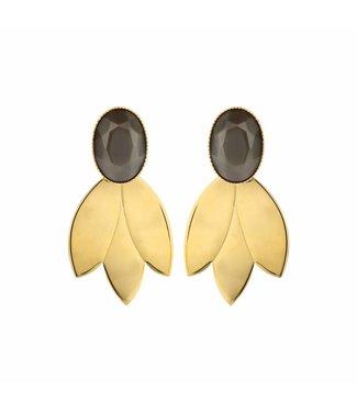 Souvenirs de Pomme Earring Leafs Short Taupe