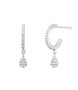 I.Ma.Gi.N. Jewels Oorring Pear Silver